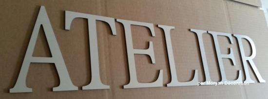 Lettre decorative ATELIER 1