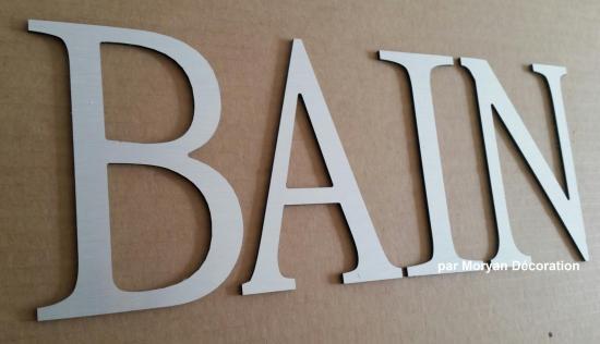 Lettre decorative BAIN 1