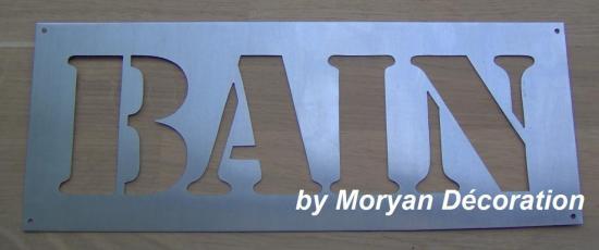 Lettre décorative en métal zinc BAIN