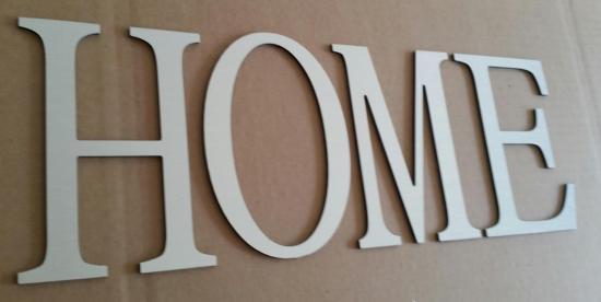 Lettre en métal alu brossé ou couleur ou miroir HOME 1