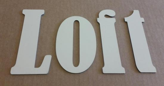 Lettre en métal alu brossé ou couleur ou miroir LOFT