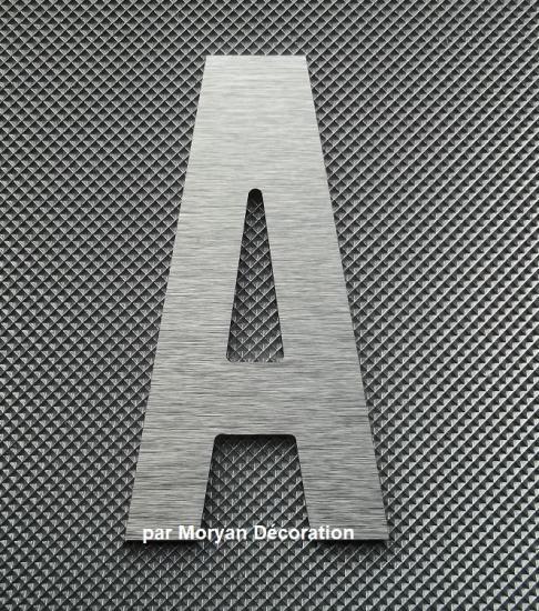 Lettre metal deco alu brossé  ALTERNATE