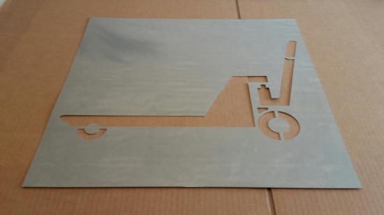 Pochoir lettre en métal zinc TRANSPALETTE
