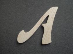 Lettre en bois décorative murale à peindre ou à décorer modèle FELIPE