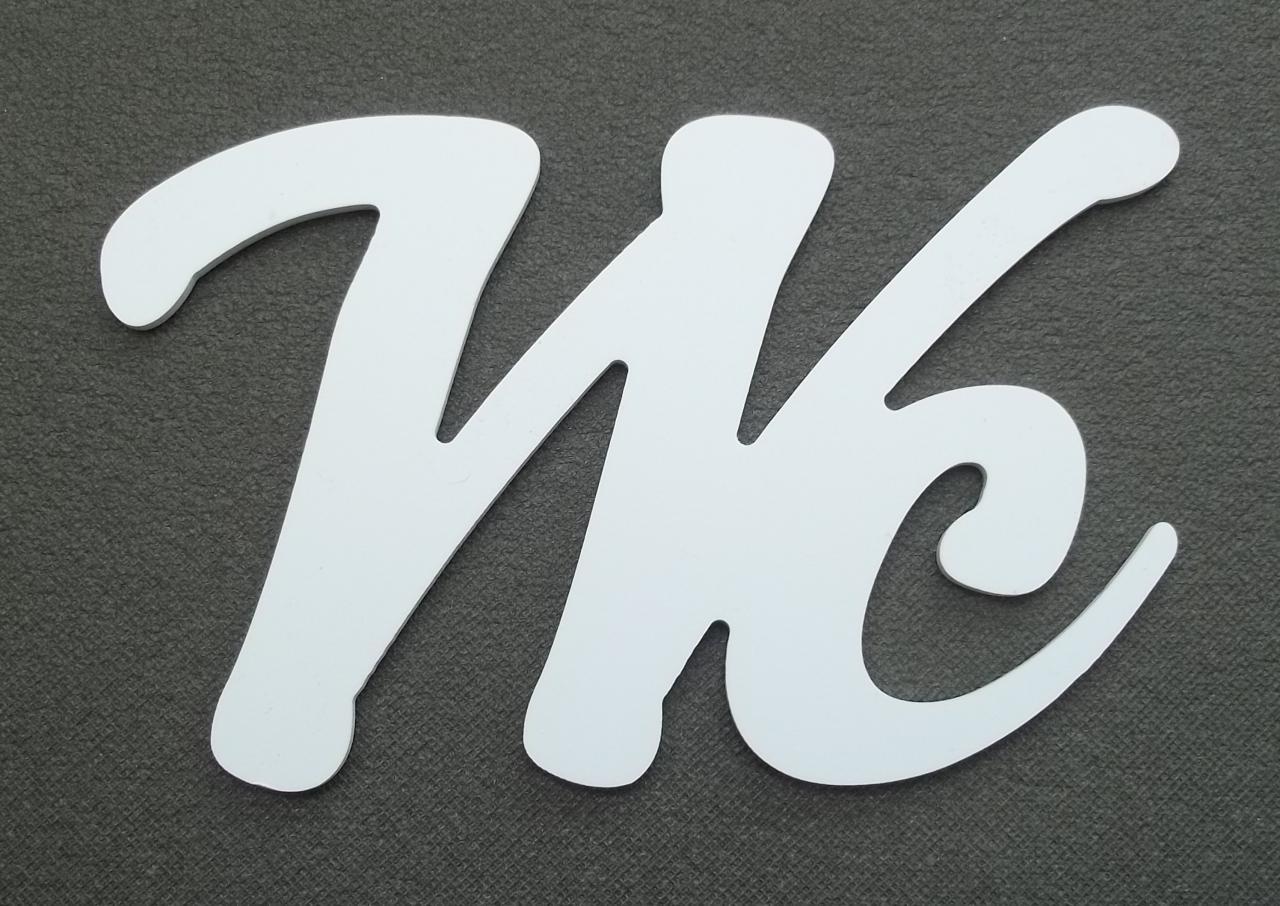 Lettre d corative pvc wc - Lettre decorative metal ...