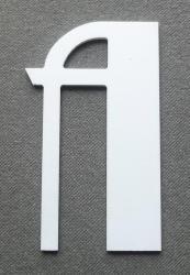 Découpe de lettre enseigne en plastique pvc BETTY NOIR