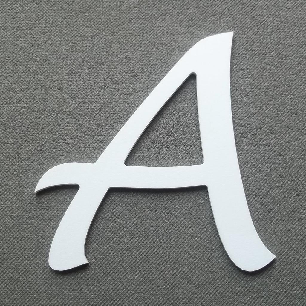 D coupe de lettre plastique pvc atelier moryan d coration - Lettre a decouper ...