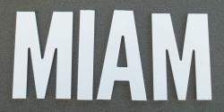 Lettre PVC : MIAM