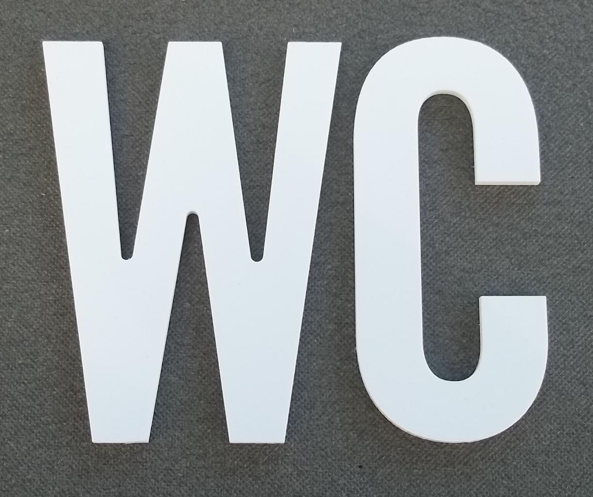 Comment Faire Une Table Basse En Palette De Bois : Lettre PVC  WC