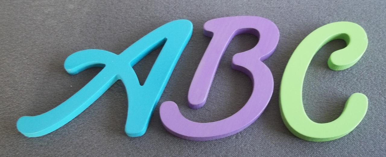 Fabrication de lettres bois lombriz atelier moryan d coration - Lettre decorative metal ...