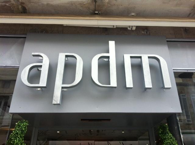 Lettre 3D en relief APDM