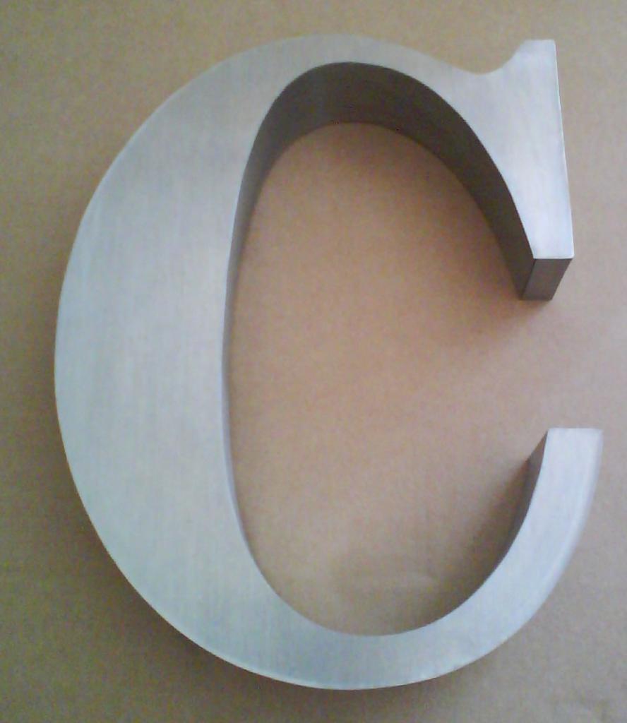 Lettre 3D en relief C