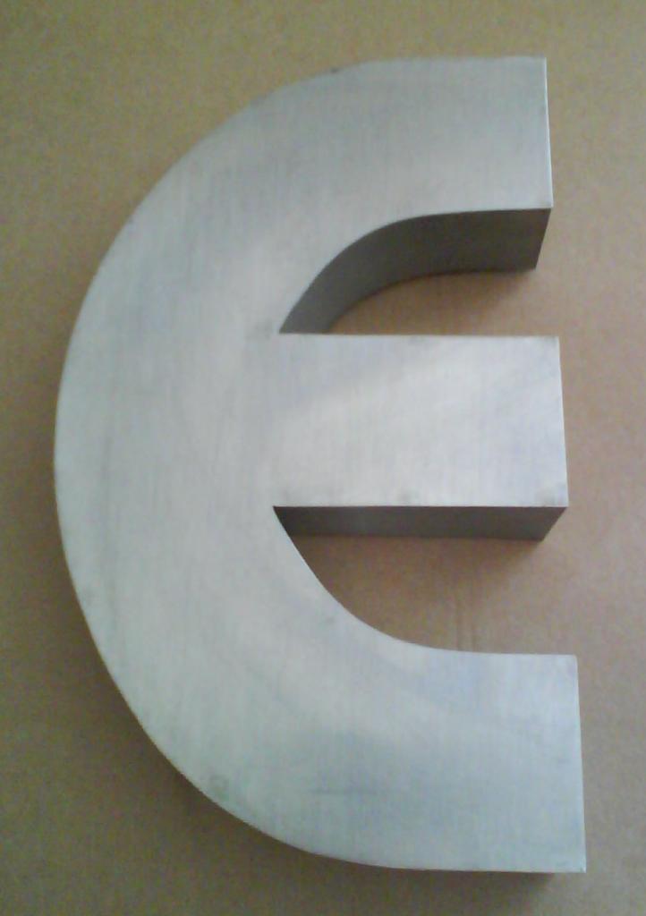 Lettre 3D en relief E1