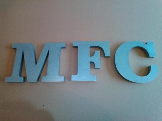 Lettre 3D en relief MFC