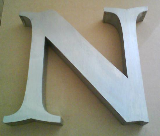 Lettre 3D en relief N1