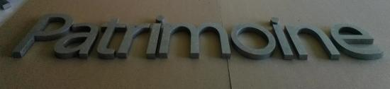 Lettre 3D en relief PATRIMOINE