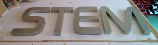 Lettre 3D en relief STEM