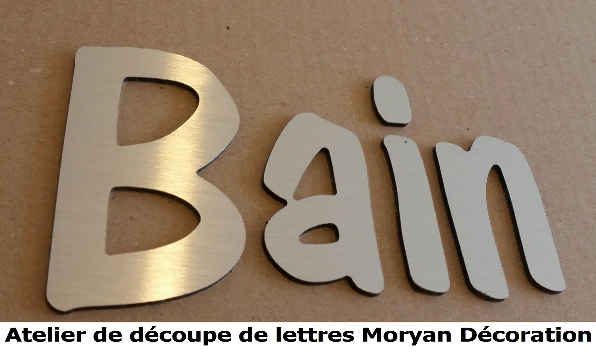 Lettre deco BAIN 1