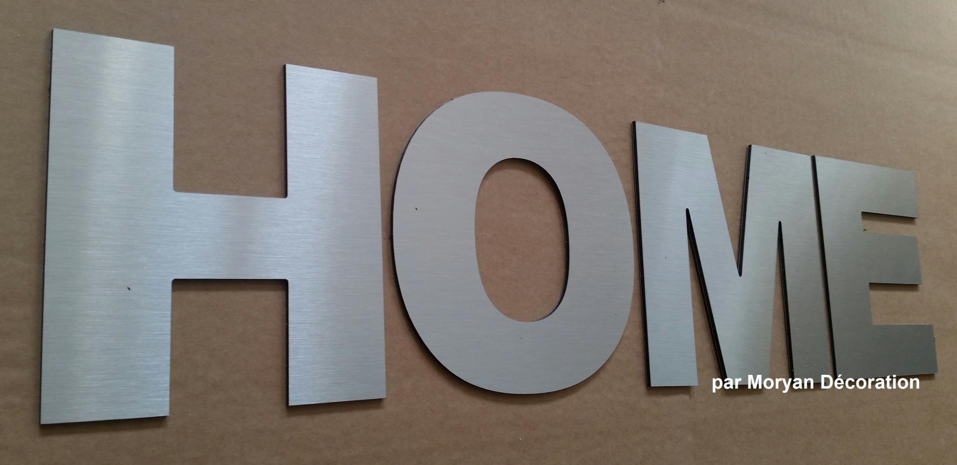 Lettre deco HOME