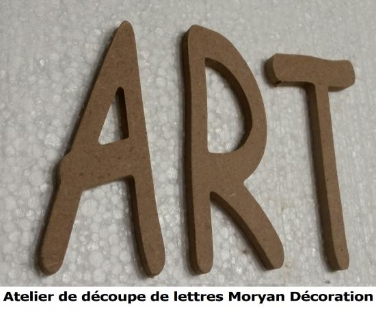 Lettre decorative ART
