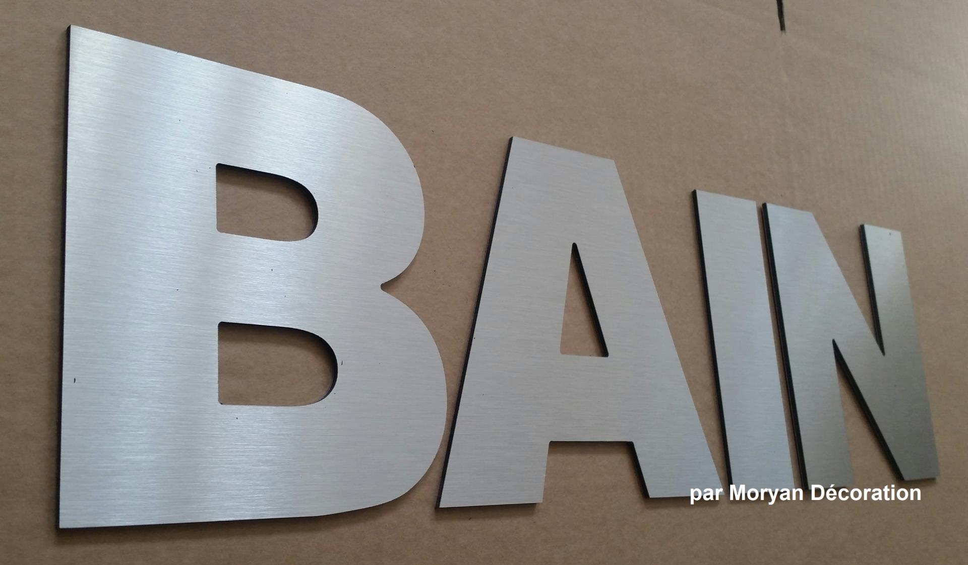 Lettre decorative BAIN