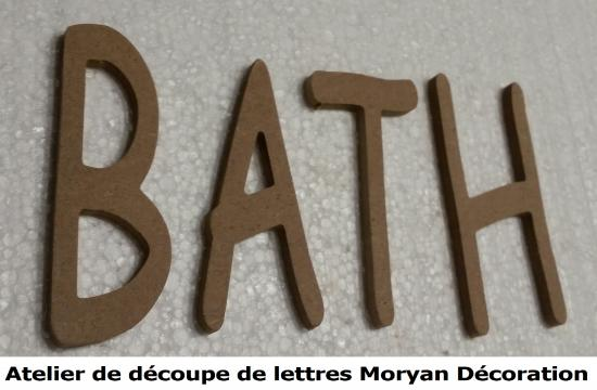 Lettre decorative BATH
