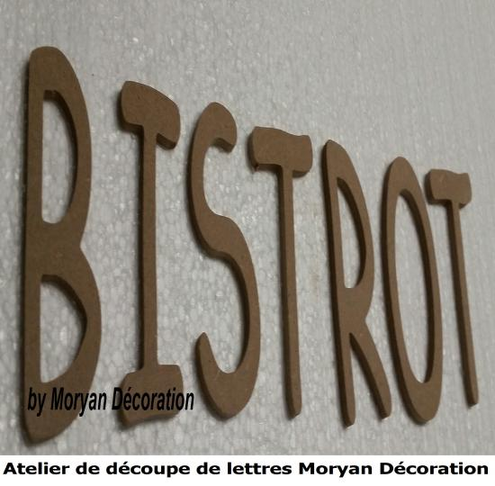 Lettre decorative  BISTROT