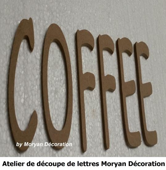 Lettre decorative COFFEE