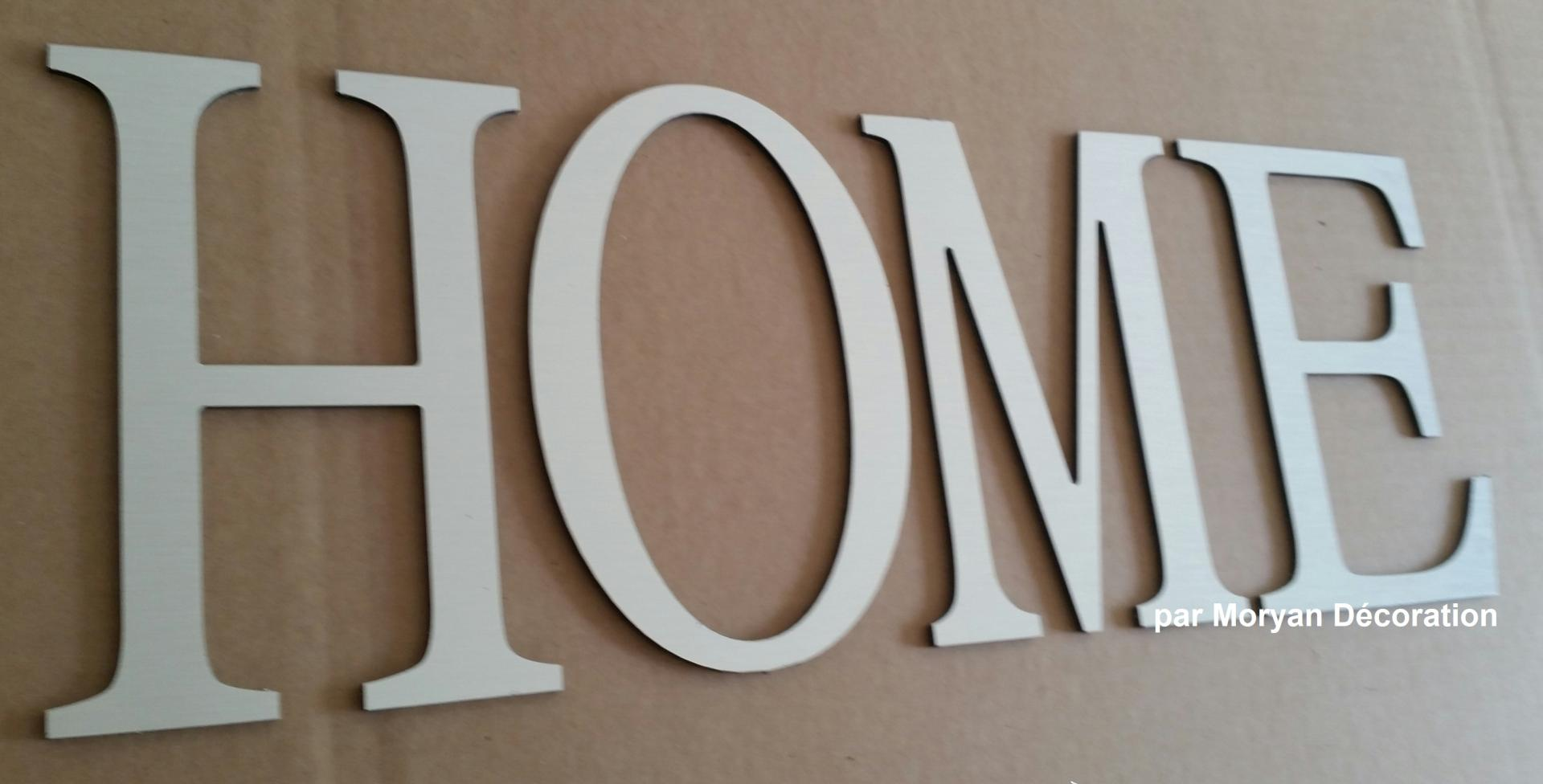 Lettre decorative HOME 1