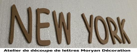 Lettre decorative NEW YORK