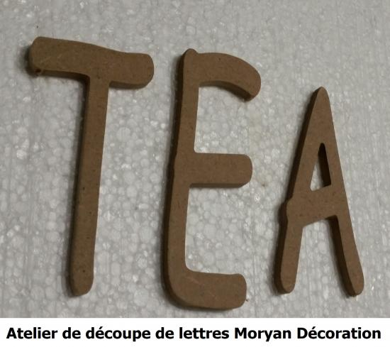 Lettre decorative TEA