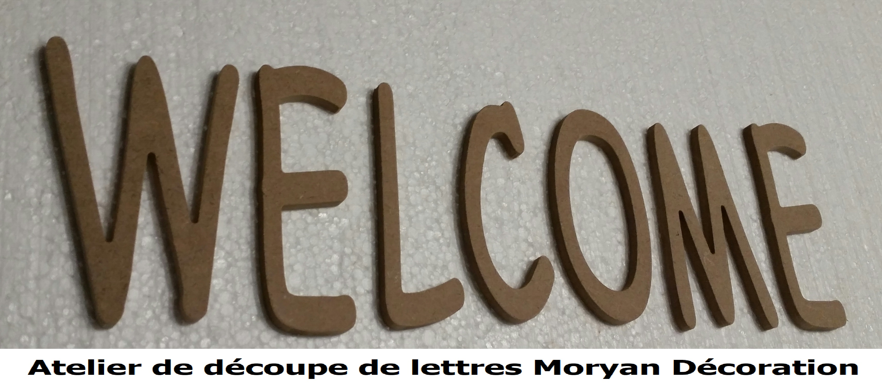 Lettre decorative WELCOME