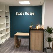 Lettre découpée sport therapy