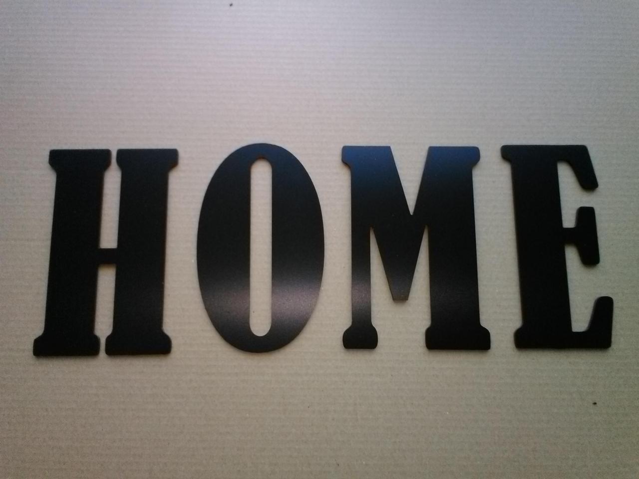 Lettre en métal alu brossé ou couleur ou miroir HOME 3
