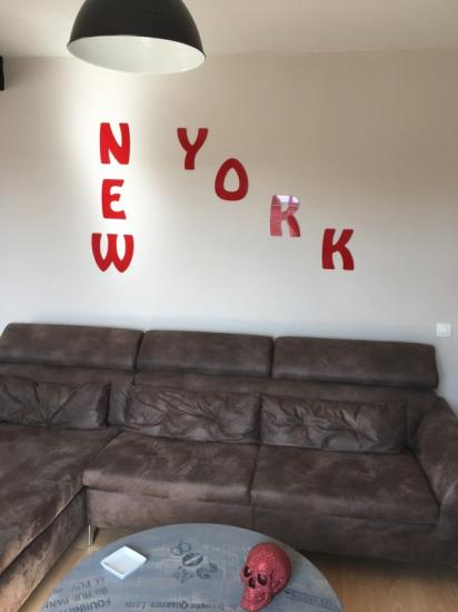 Lettre en métal alu brossé ou couleur ou miroir NEW YORK