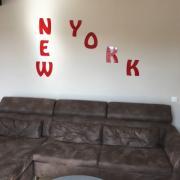 Lettre en metal new york