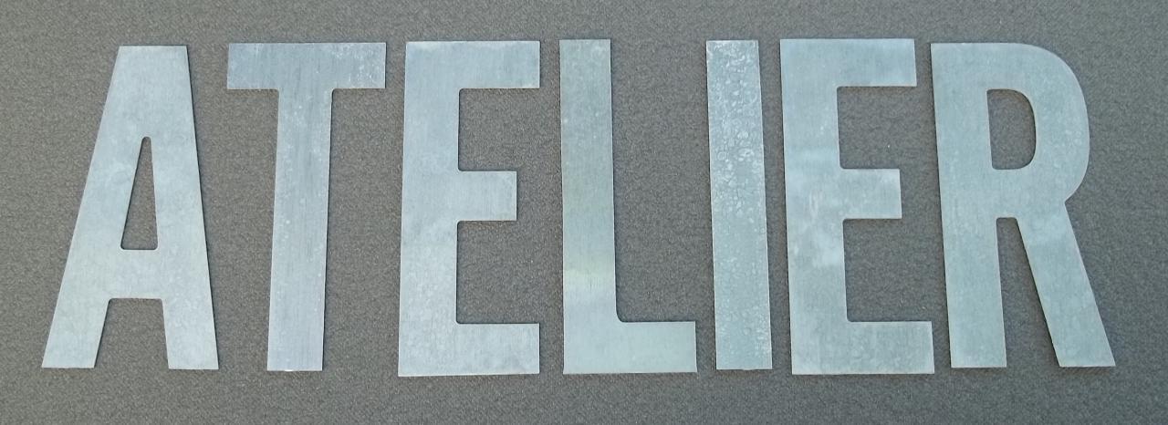 Lettre en zinc ATELIER 1