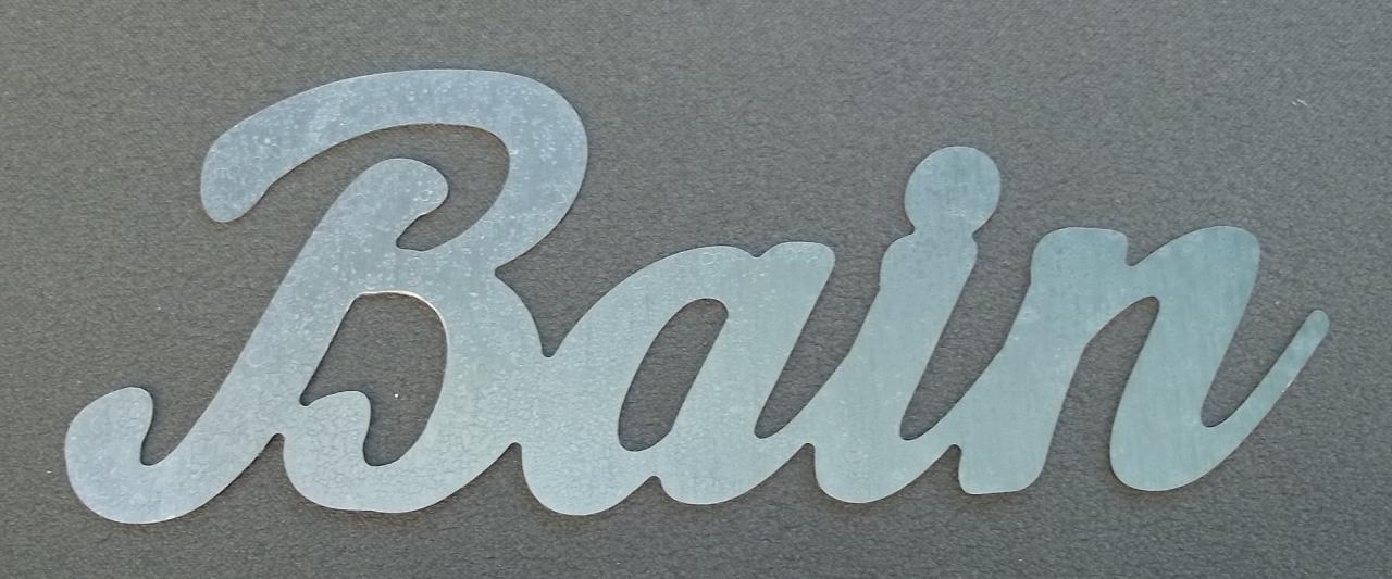 Lettre en zinc BAIN 1