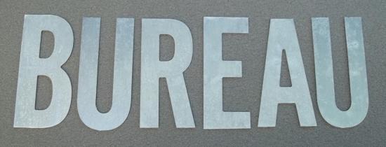 Lettre en zinc BUREAU