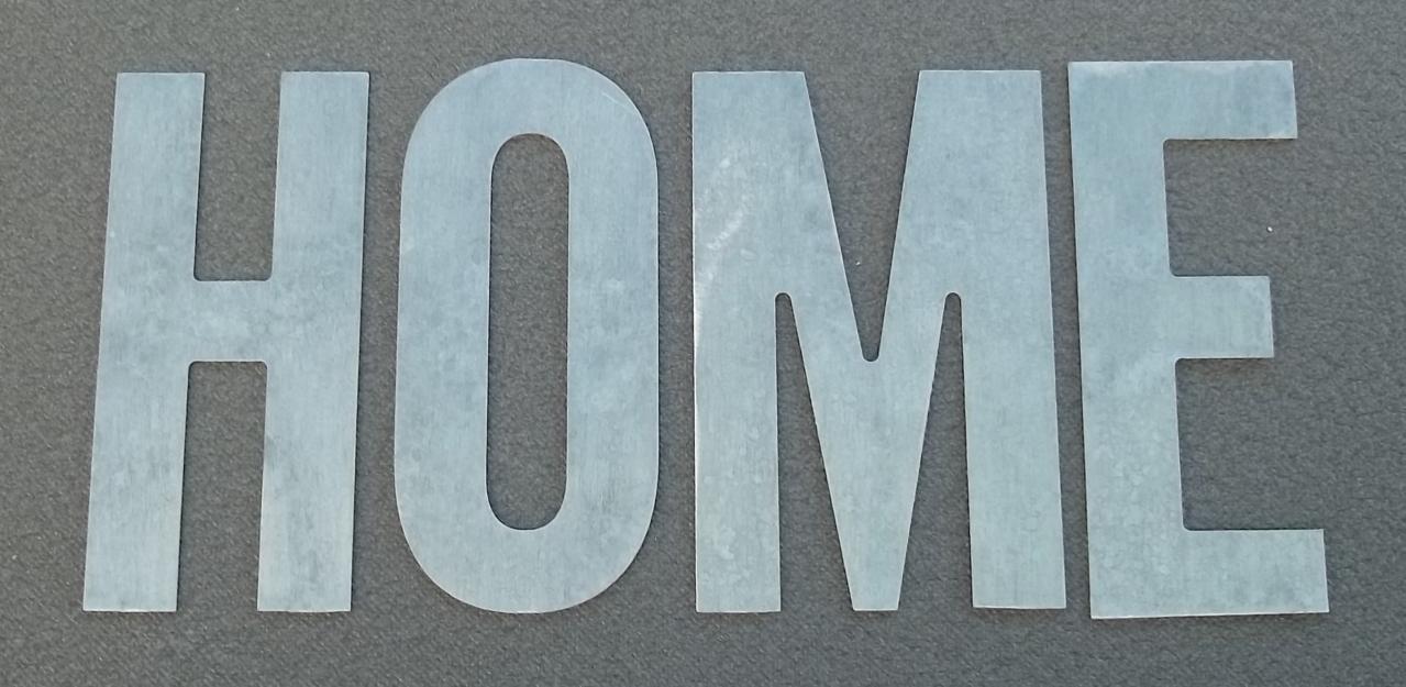 Lettre en zinc HOME 3