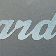 Lettre en zinc JARDIN