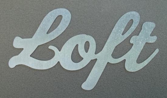 Lettre en zinc LOFT
