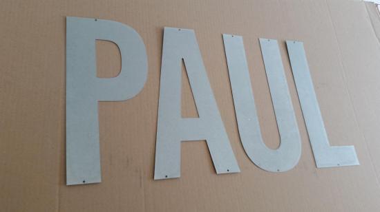 Lettre en zinc PAUL