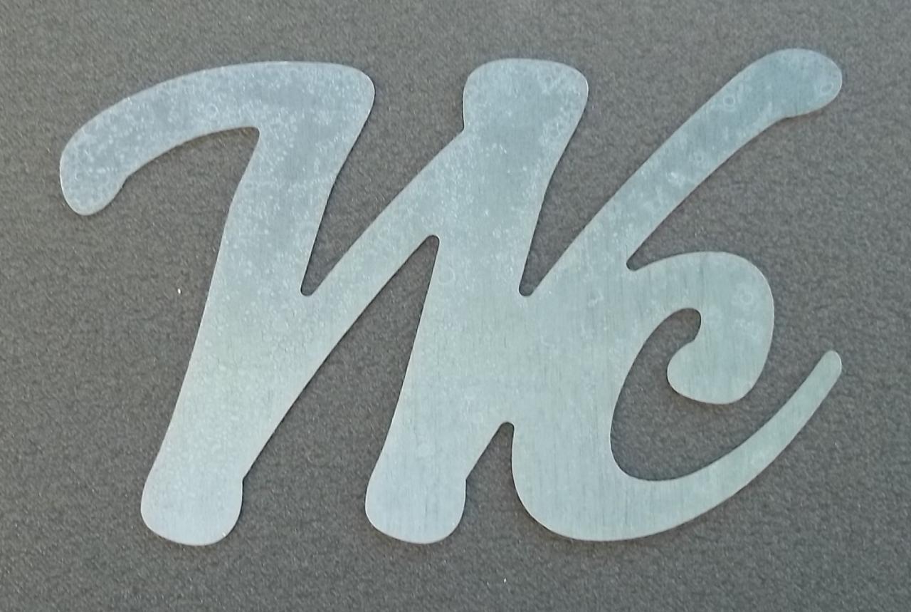 Lettre en zinc WC