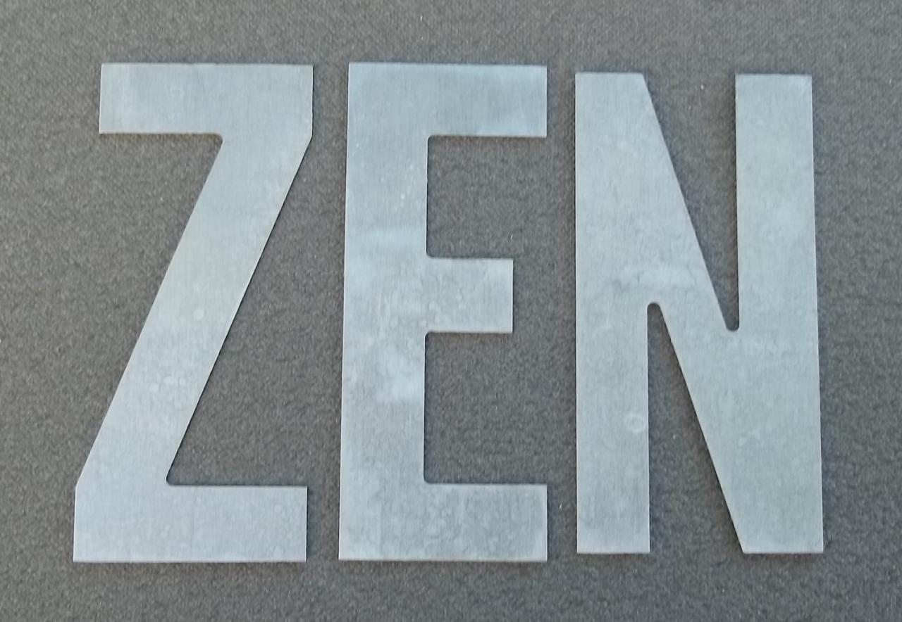 Lettre en zinc ZEN 1