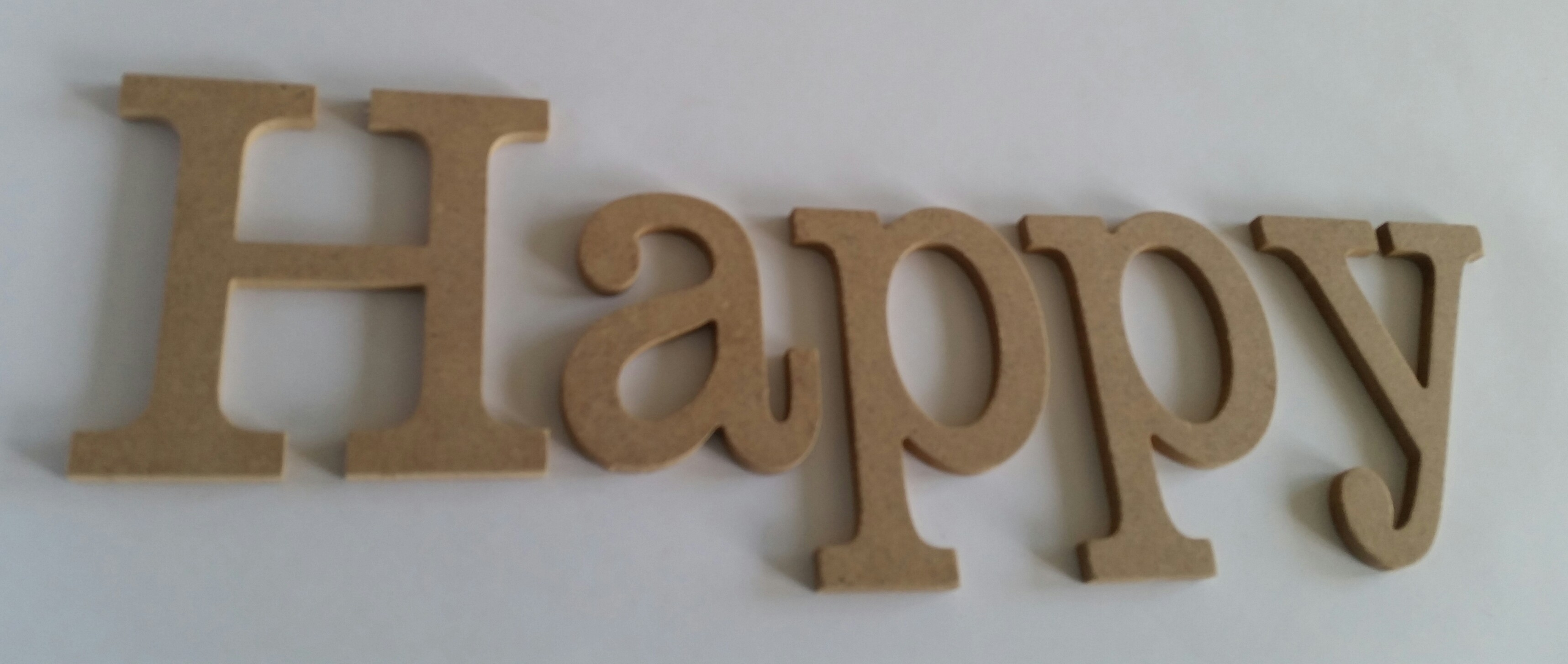 Lettre mdf happy