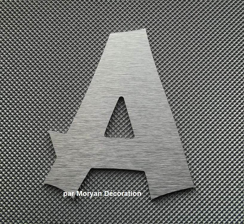 Lettre metal deco alu brossé   CANCUN