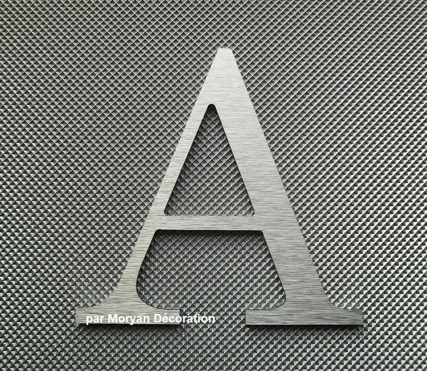 Lettre metal deco alu brossé   CENTURY