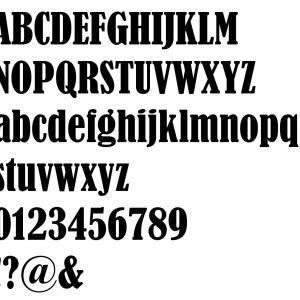 Alphabet bernard condensed 2