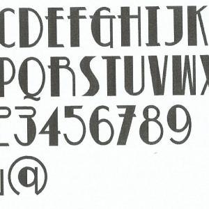 Alphabet betty noir